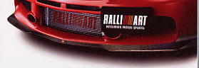 Ralliart Front under Spoiler EVO9