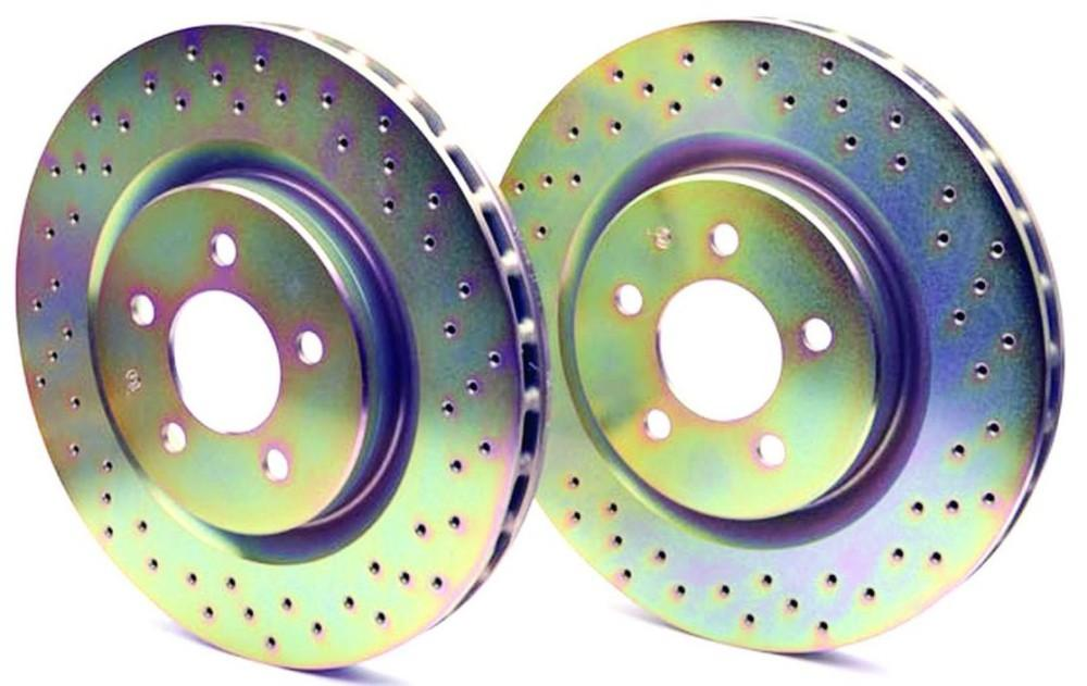Brembo Gold drilled front Rotor 5x100 STI 2002-2004