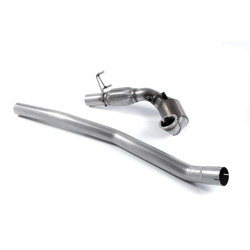 Milltek Large Bore Downpipe with Hi-Flow Sports Catalyst (For Milltek Cat-Back)  Golf 7R 7.5R Audi S3 8V