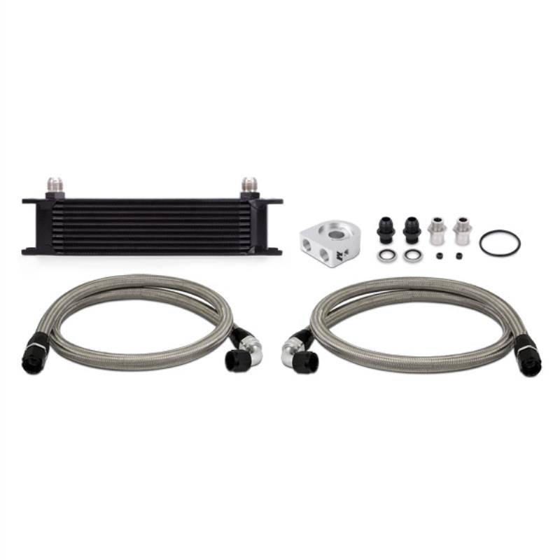 Mishimoto Universal 10 Row Oil Cooler Kit, Black