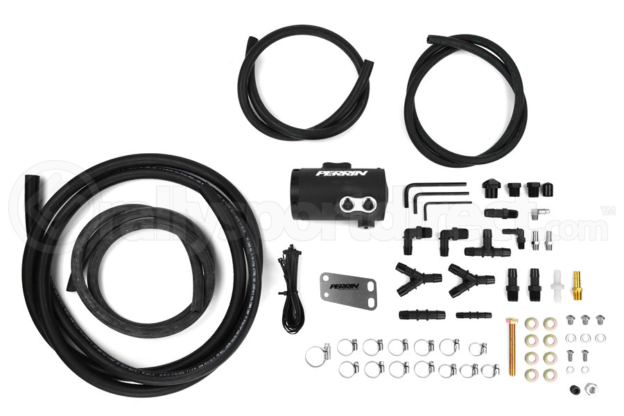 PERRIN Air Oil Separator Black Stock TMIC - Subaru WRX 2008-2014 / STI 2008+