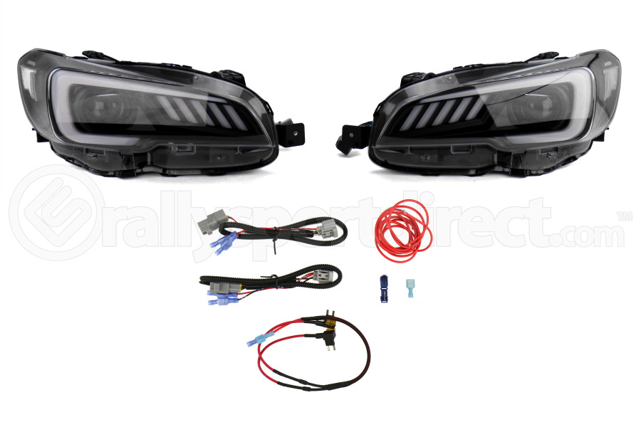 SubiSpeed LED Euro Headlights DRL and Sequential Turn Signals w/ Hardware Kit - Subaru STI 2015-2017 / LEVORG 2015-2017