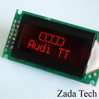 Zada Tech Audi TT, A3, S3, RS3, A4, S4, RS4 Red LCD Multi Gauge - OEM Looking