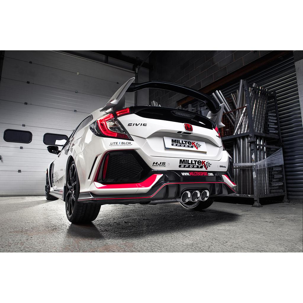 Milltek Cat-back Resonated (EC Approved) Honda Civic Type R FK8