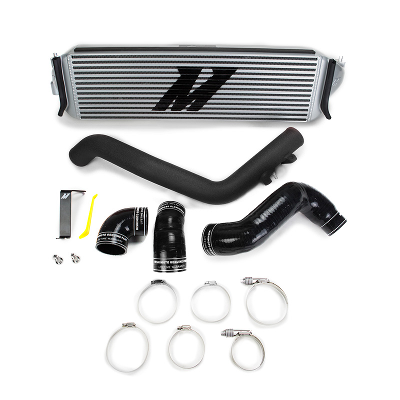Mishimoto Honda Civic Type R FK8 Performance Intercooler Kit, 2017+, Silver Core, Black Piping