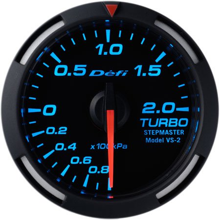 Defi Blue Racer Boost Gauge 2 Bar