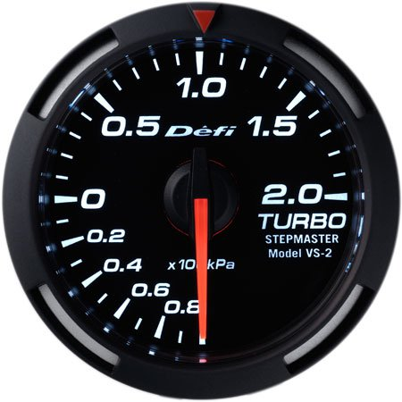 Defi White Racer Boost Gauge Metric