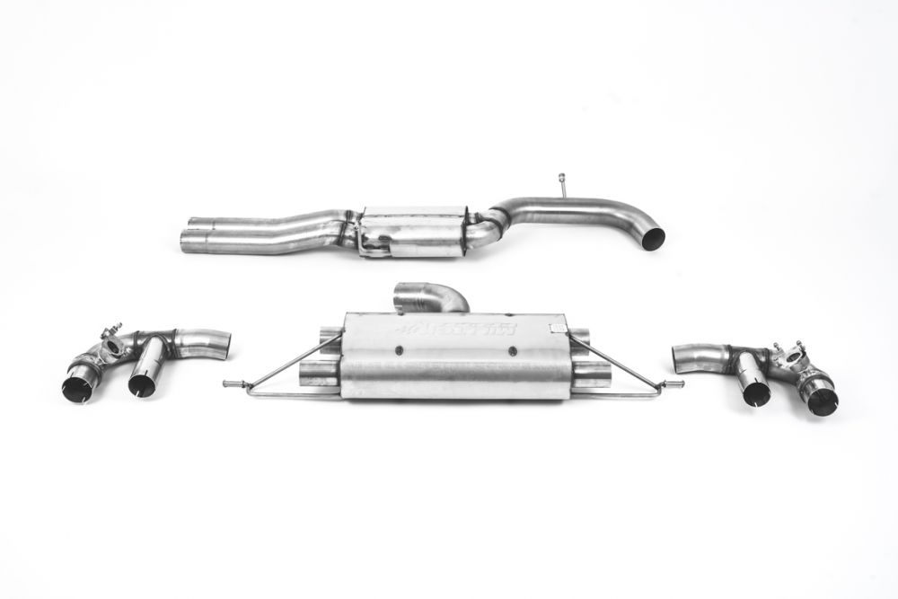 Milltek 80mm Resonated Cat Back Exhaust Audi RS3 Saloon / Sedan 400PS (8V MQB) - OPF/GPF Models 2019+