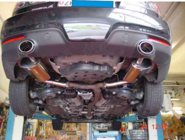 Maxspeed Exhaust Mazda MPS 6