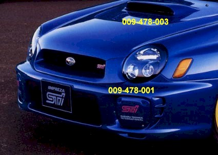 JDM STI Hood Scoop, large