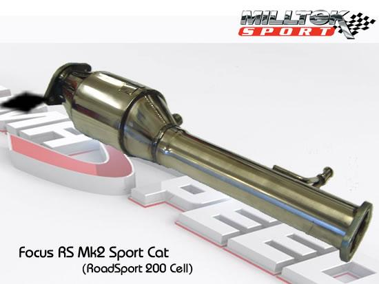 Milltek Sport Focus RS Mk2 2009 Hi-Flow SPORT CAT (200 Cell)