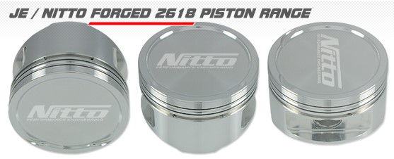 NITTO FORGED Pistons SUBARU EJ25 100.0MM / +0.020'' MY08-
